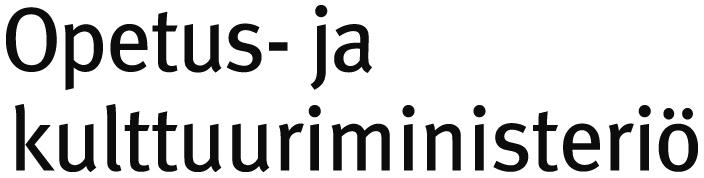 opetus- ja kulttuuriministeriön tekstilogo